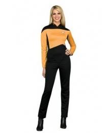 Star Trek Next Generation Gold Jumpsuit Deluxe Adult Costume EST0023