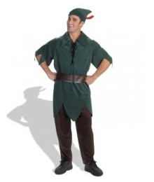 Peter Pan Disney Adult Black Costume - Black Color, No Pants