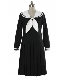 Black Long Sleeves Dress School Uniform Cosplay Costume