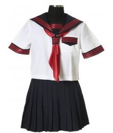 Black Skirt Short Sleeves Sailorl Uniform Cosplay Costume