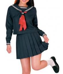 Dark Blue Long Sleeves Sailor Uniform Cosplay Costume
