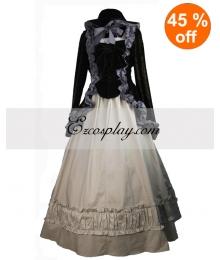 Black Coat and Gothic Lolita Dress