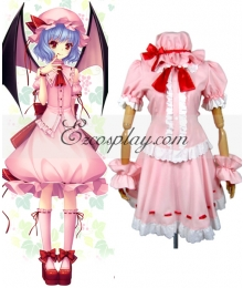 Touhou Project Vampire Remilia Scarlet Pink Cosplay Costume