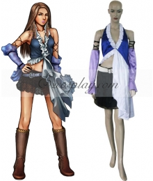 Final Fantasy X-2 Yuna Lenne Singing Cosplay Costume
