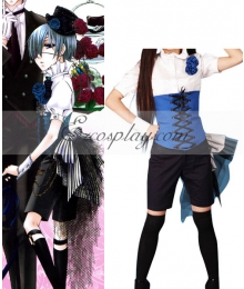 Black Butler Ciel Phantomhive Short Shirt Cosplay Costume