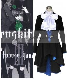 Black Butler Ciel Phantomhive Gentswear Blue Cosplay Costume