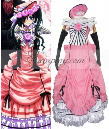 Black Butler Ciel Phantomhive Pink Dress Cosplay Costume