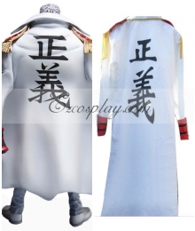 One Piece Monkey.D.Kapu Vice admiral Navy Cloak Cosplay Costume