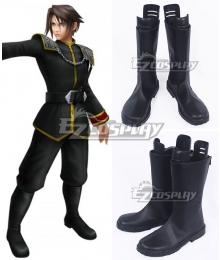 Final Fantasy Dissidia Dream Squall Leonhart Black Shoes Cosplay Boots