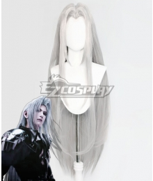 Final Fantasy VII: Advent Children FF7 Sephiroth Silver Cosplay Wig