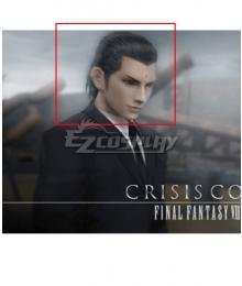 Final Fantasy VII FF7 Crisis Core Tseng Zeng Black Cosplay Wig