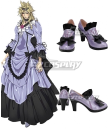 Final Fantasy VII Remake Cloud Strife Girl Ver3 Purple Cosplay Shoes