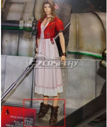 Final Fantasy VII Remake FF7 Aerith Gainsborough Brown Cosplay Boots