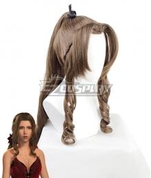 Final Fantasy VII Remake FF7 Aerith Gainsborough Formal Brown Cosplay Wig