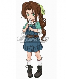 Final Fantasy VII Remake FF7 Aerith Gainsborough Kid Blue Cosplay Costume