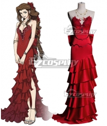 Final Fantasy VII Remake FF7 Aerith Gainsborough Red Cosplay Costume B Edition