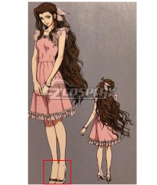 Final Fantasy VII Remake FF7 Aerith Gainsborough Ver1 White Cosplay Shoes