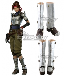 Final Fantasy VII Remake FF7 Jessie Brown Shoes Cosplay Boots