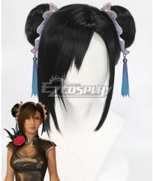 Final Fantasy VII Remake FF7 Tifa Lockhart Cheongsam Black Cosplay Wig