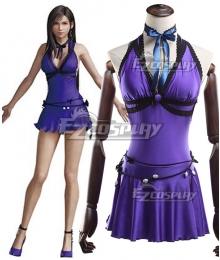 Final Fantasy VII Remake FF7 Tifa Lockhart Purple Cosplay Costume