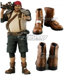Final Fantasy VII Remake FF7 Wedge Brown Shoes Cosplay Boots