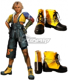 Final Fantasy X FF10 FFX Tidus Black Golden Cosplay Shoes