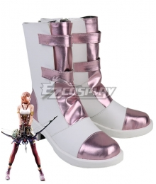 Final Fantasy XIII-2 FF13-2 Serah Farron Purple Shoes Cosplay Boot
