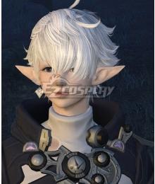 Final Fantasy XIV Alisaie Leveilleur Alphinaud Leveilleur Silver White Cosplay Wig