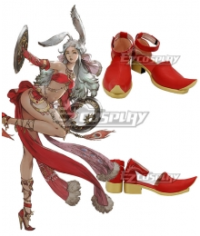Final Fantasy XIV FF14 Dancer Red Cosplay Shoes