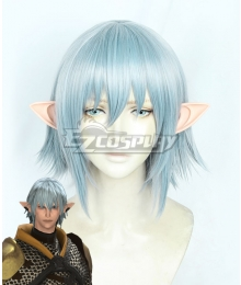 Final Fantasy XIV FF14 Haurchefant Greystone Blue Cosplay Wig