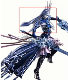 Final Fantasy XIV FF14 Heritor of Frost Shiva White Cosplay Wig
