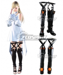 Final Fantasy XIV FF14 Ryne Black Shoes Cosplay Boots