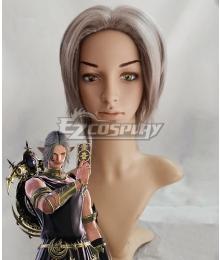 Final Fantasy XIV FF14 Urianger Augurelt Grey Cosplay Wig