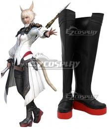 Final Fantasy XIV FF14 Y'shtola Rhul Yshtola Rhul Black Shoes Cosplay Boots