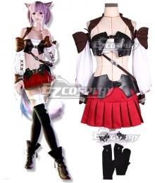 Final Fantasy XIV Miqo'te Female Cosplay Costume - No Wig