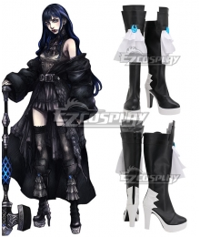 Final Fantasy XIV Shadowbringers 5.0 FF14 Boss Gaia Black Shoes Cosplay Boots