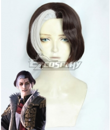 Final Fantasy XIV Solus zos Galvus Brown White Cosplay Wig