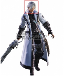 Final Fantasy XIV Thancred Waters Grey Cosplay Wig