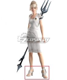 Final Fantasy XV: A New Empire FF15 Lunafreya Nox Fleuret White Cosplay Shoes