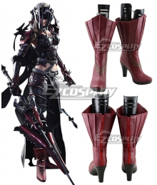 Final Fantasy XV FF15 Aranea Highwind Black Shoes Cosplay Boots