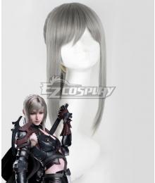Final Fantasy XV FF15 Aranea Highwind Silver  Cosplay Wig