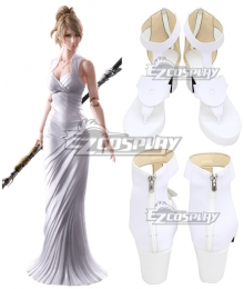 Final Fantasy XV FFXV Lunafreya Nox Fleuret White Cosplay Shoes