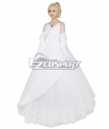 Final Fantasy XV Lunafreya Nox Fleuret Wedding Dress Cosplay Costume