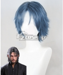 Final Fantasy XV Noctis Lucis Caelum 10 Years Later Blue Cosplay Wig