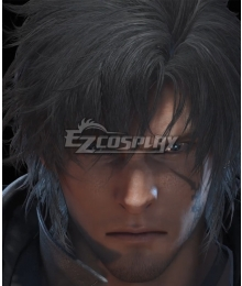 Final Fantasy XVI FF16 Clive Rosfield Time Skip Black Cosplay Wig