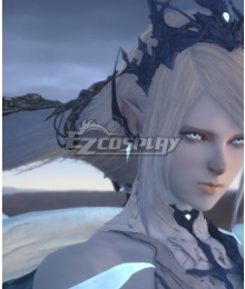 Final Fantasy XVI FF16 Shiva Silver Cosplay Wig