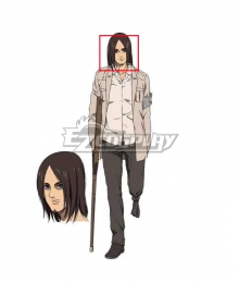 Attack On Titan Shingeki No Kyojin Final Season Eren Yeager Long Brown Cosplay Wig