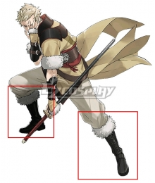 Fire Emblem Awakening Owain Black White Shoes Cosplay Boots