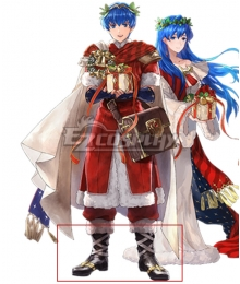 Fire Emblem Christmas Marth Black Shoes Cosplay Boots