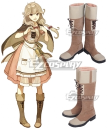 Fire Emblem Echoes: Shadows Of Valentia Faye Brown Shoes Cosplay Boots